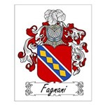 Fagnani Family Crest Small Poster