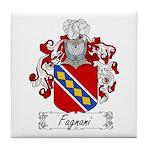 Fagnani Family Crest Tile Coaster