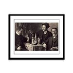 Three Absinthe Drinkers Framed Panel Print