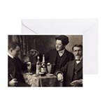 Three Absinthe Drinkers Greeting Cards (Pk of 10)