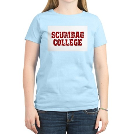 Scumbag College Womens Pink T-Shirt