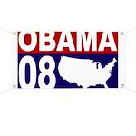 Obama 08 USA Banner for Barack Obama