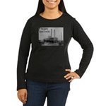 The Rosebud Women's Long Sleeve Dark T-Shirt