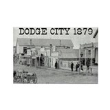Dodge City 1879 Rectangle Magnet