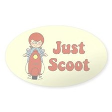 Just Scoot Girl Oval Decal