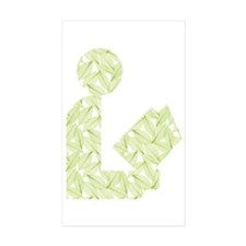 Leafy Green Library Logo Rectangle Sticker 50 pk)