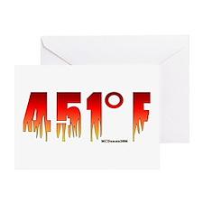 451 Degrees Fahrenheit Greeting Card
