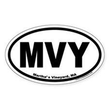 Martha's Vineyard MVY Euro Oval Decal
