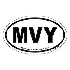 Martha's Vineyard MVY Euro Oval Decal