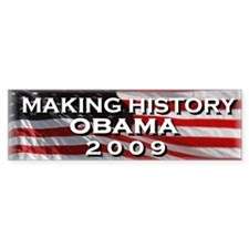 OBAMA HISTORY Bumper Car Sticker