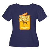 Mountain Cur Women's Plus Size Scoop Neck Dark T-S