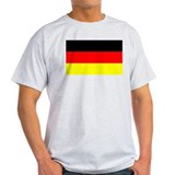 German Flag Ash Grey T-Shirt