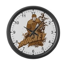 Hocky Rocks Large Wall Clock