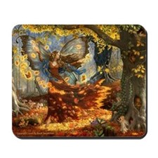 Fall Fairy Mousepad