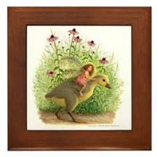 Gosling Fairy Framed Tile