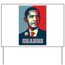 Barack Obama Change Yard Sign