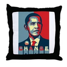Barack Obama Change Throw Pillow