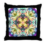 Four Flower Kaleidoscope Throw Pillow