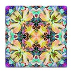 Four Flower Kaleidoscope Tile Coaster