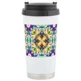 Four Flower Kaleidoscope Travel Mug