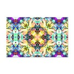 Four Flower Kaleidoscope Mini Poster Print