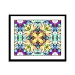 Four Flower Kaleidoscope Framed Panel Print