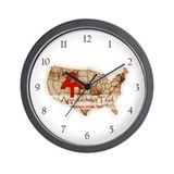 Appalachian Trail Map Wall Clock
