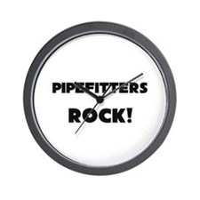 Pipefitters ROCK Wall Clock