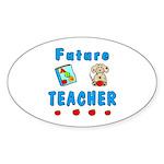 Future Teacher Sticker (Oval 50 pk)