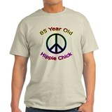 Hippie Chick 85th Birthday T-Shirt