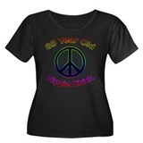 Hippie Chick 85th Birthday Women's Plus Size Scoop