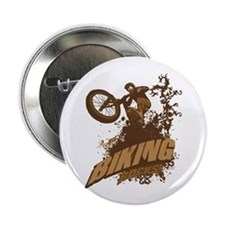 "Biking Rocks 2.25"" Button (100 pack)"