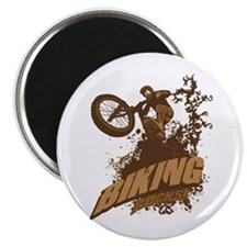 "Biking Rocks 2.25"" Magnet (10 pack)"