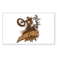 Biking Rocks Rectangle Sticker 10 pk)