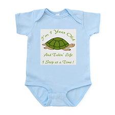 1st Birthday Turtle Infant Bodysuit