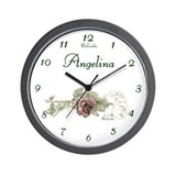 "Personalized ""Angelina"" Wall Clock"
