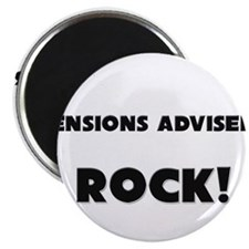 "Pensions Advisers ROCK 2.25"" Magnet (10 pack)"