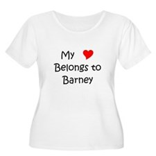 Cute My heart belongs barney T-Shirt