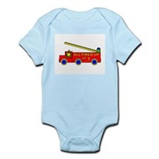 1st Birthday Fire Engine Infant Bodysuit
