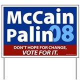 McCain Palin 08 Yard Sign