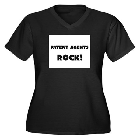 Patent Agents ROCK Women's Plus Size V-Neck Dark T