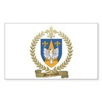 MORNEAULT Family Crest Rectangle Sticker 10 pk)