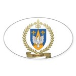 MORNEAULT Family Crest Oval Sticker (10 pk)