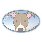 Anime American Pit Bull Terrier Oval Decal