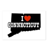 I Love Connecticut Postcards (Package of 8)