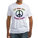 Hippie Chick 65th Birthday Fitted T-Shirt