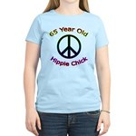 Hippie Chick 65th Birthday Women's Light T-Shirt