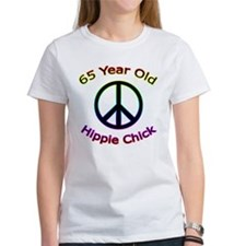 Hippie Chick 65th Birthday Tee
