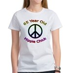 Hippie Chick 65th Birthday Women's T-Shirt