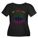 Hippie Chick 65th Birthday Women's Plus Size Scoop
